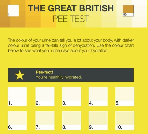 A wee bit of advice about your urine colour could make a world of - sample urine color chart