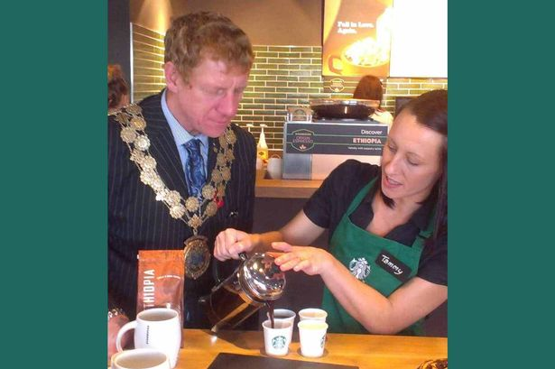 Mayor of Kirklees opens new Starbucks store in Mirfield - starbucks store manager