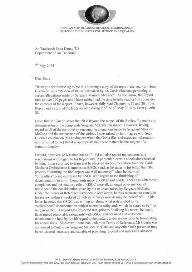 Alan Shatter\u0027s resignation letter in full - Irish Mirror Online