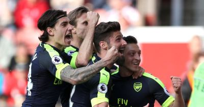 Stoke City 1-4 Arsenal player ratings: Hector Bellerin impresses as Gunners keep their top-four ...