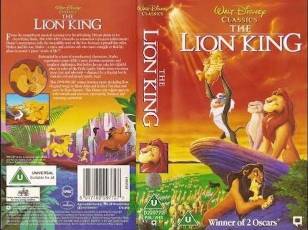 lion king vhs worth money