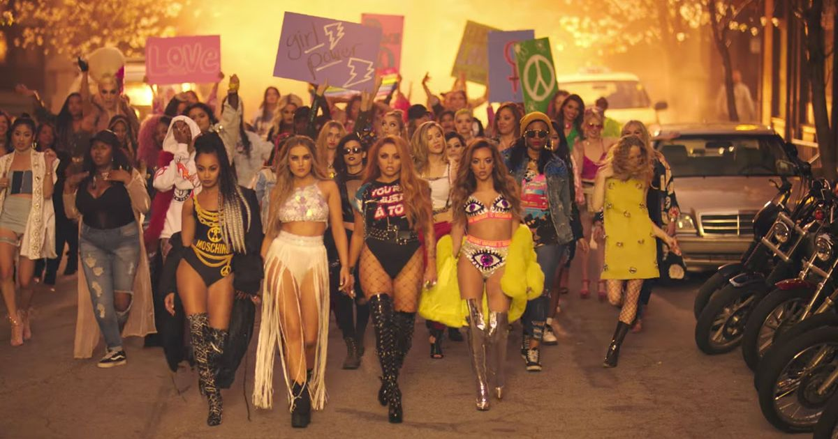 Wallpaper Tennis Girl Little Mix Belt Out Their Anthem Power In Very Sexy New