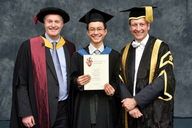Maths whizz, 15, graduates university with first-class honours