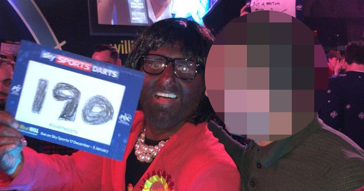 Flights Online Outrage As Darts Fan Dresses Up In Blackface As Mp Diane