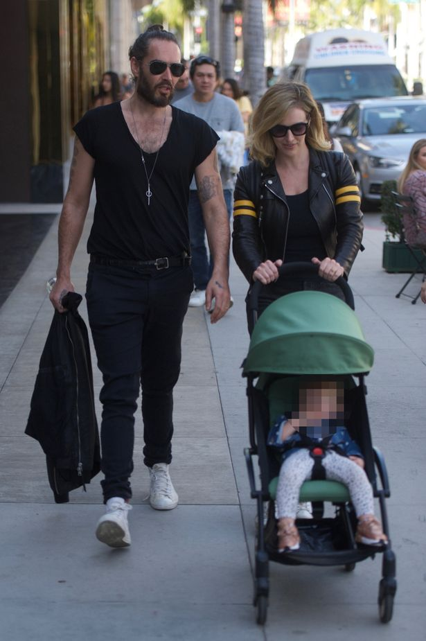 Toddler Pram Uk Russell Brand Steps Out With Wife Laura And Toddler