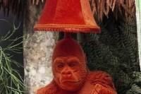 Debenhams selling table lamp with gorilla making ...