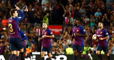 Barcelona 2-2 Girona REPORT: Gerard Pique saves 10-man Barca after Cristhian Stuani double ...