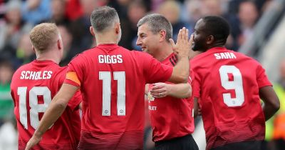 Celtic 2-2 Manchester United legends: Roy Keane, Paul Scholes and Ryan Giggs all feature in Liam ...