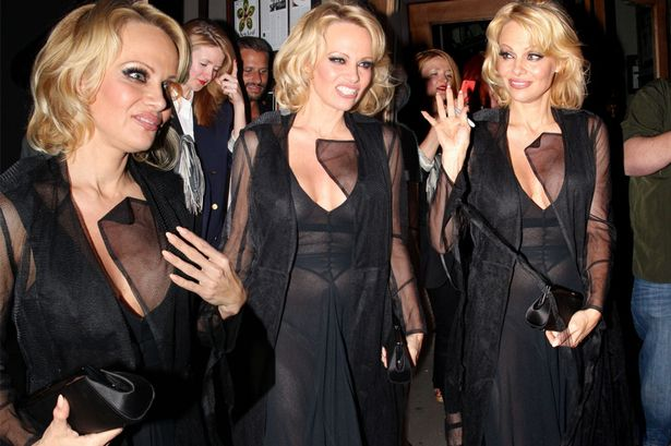 Braless Pamela Anderson Shows Off Her Assets In Sheer