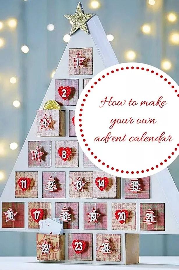 DIY Christmas advent calendar - How to make your own homemade - make photo calendar