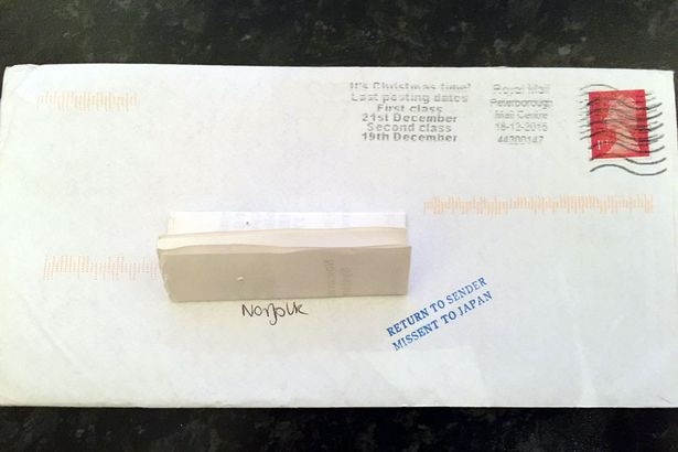 Christmas card addressed to next town ended up being sent to JAPAN - how to address christmas cards