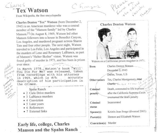 Charles Manson\u0027s right-hand man submits corrections of crimes for - criminal profile
