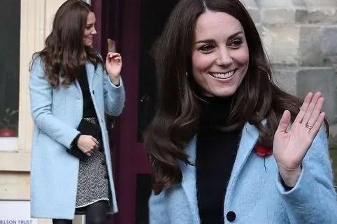 Kate Middleton Wears 375 Lk Bennett Dress As She Gives A