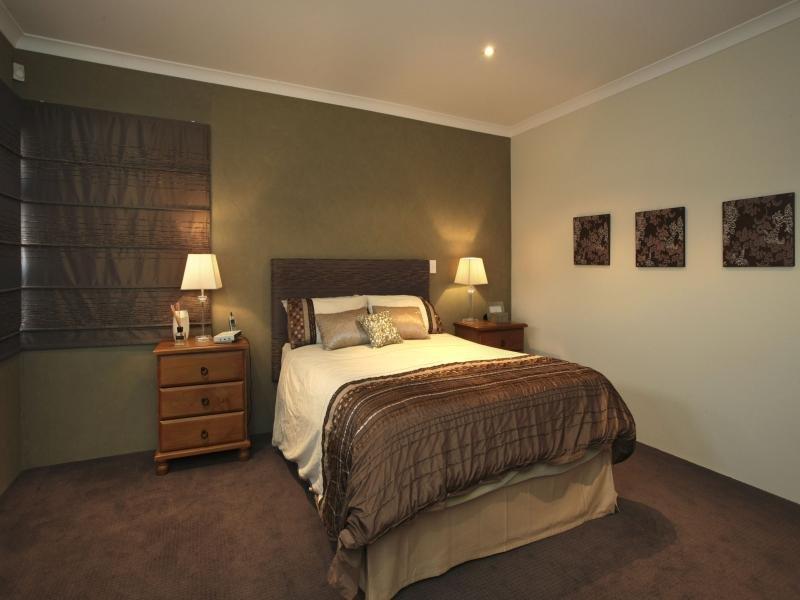 Modern bedroom design idea with carpet amp floor to ceiling
