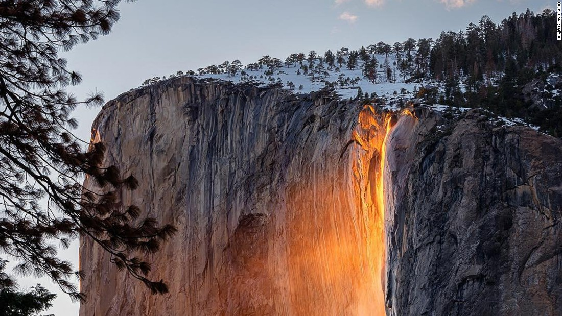 Yosemite Lava Falls Wallpaper Firefall At Yosemite Park Thrills Visitors Cnn Travel