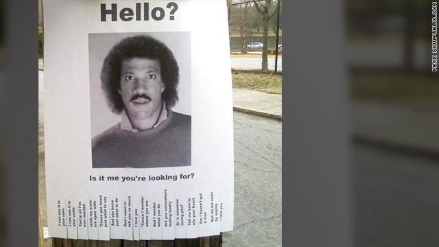 Hello? Is it Lionel Richie you\u0027re looking for? \u2013 The Marquee Blog - funny missing person poster