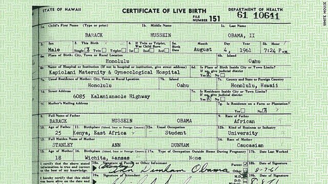 White House releases Obama\u0027s birth certificate \u2013 CNN Political - birth certificate