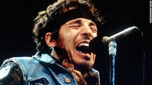 "Springsteen delivers one of his passionate performances during the 1985 ""Born in the U.S.A. Tour'""in Los Angeles. Already a star for a decade, that album made the singer a phenomenon."