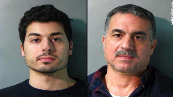 Karim Jaghab and his father, Nabil Jaghab, are accused of planning to cash a lottery winner's $1 million scratch-off ticket.