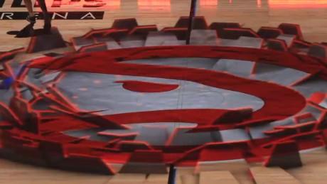 Aviation 3d Live Wallpaper Basketball Court Vanishes Under Players Feet Cnn Video