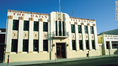 The Daily Telegraph building is one of Napier's most iconic examples of Art Deco architecture.