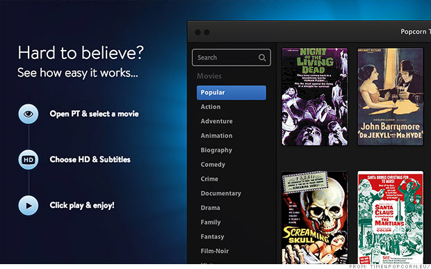 Popcorn Time - Watch Free Movies and TV Shows