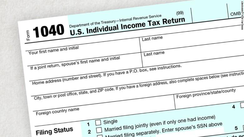 IRS tax filing season starts January 19 - Dec 21, 2015 - tax form