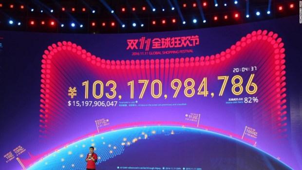 China's shopping blitz sets new record