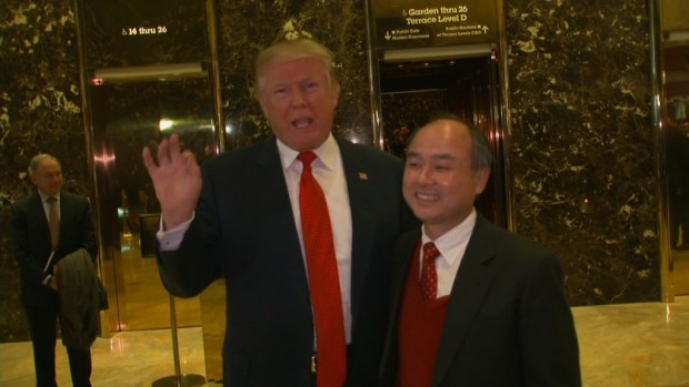 Trump: Japan's SoftBank to invest $  50B in U.S. jobs