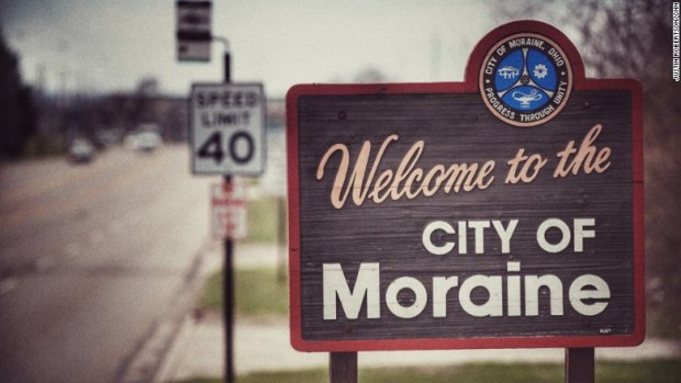 city of moraine sign