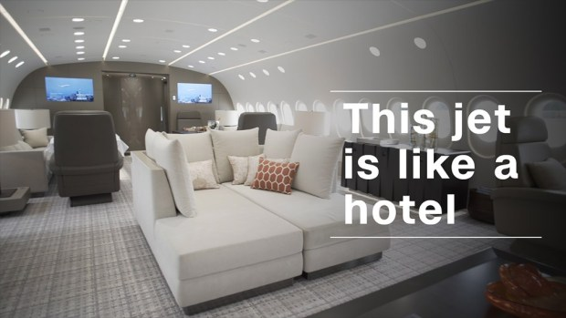 This flying hotel can be yours for $  74,000 an hour
