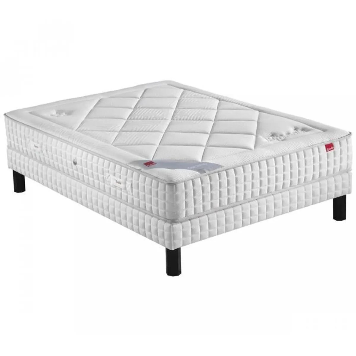 Matelas Epeda 160x200 Ensemble Epeda Ressorts Multi Actif Velours Sommier Pieds 160x200