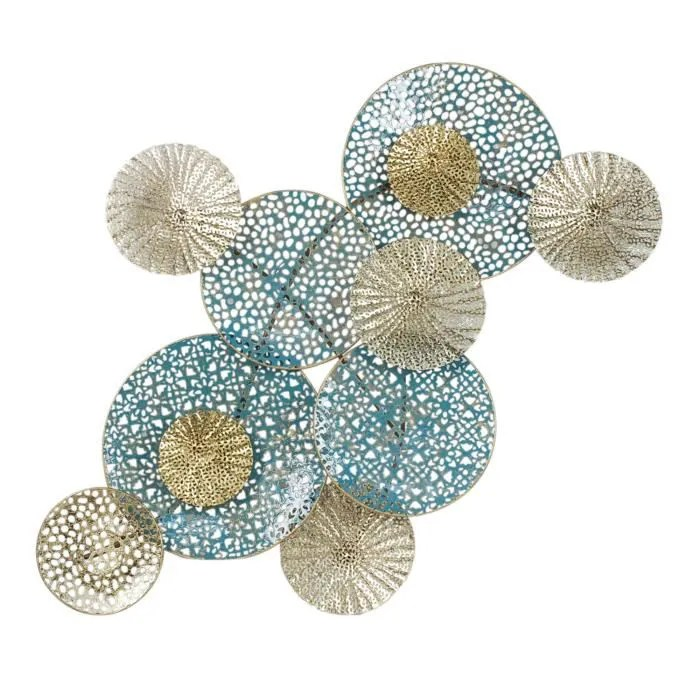 Wall Decoration Murale Home Decor - Wall Deco Decoration Murale En Metal Circles
