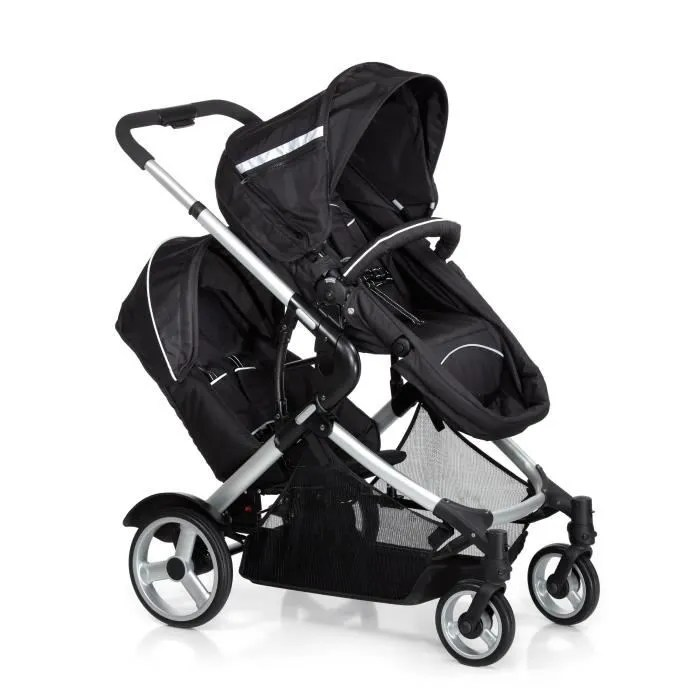 Double Urban Buggy Hauck Poussette Double Duett In Black Noir Achat Vente