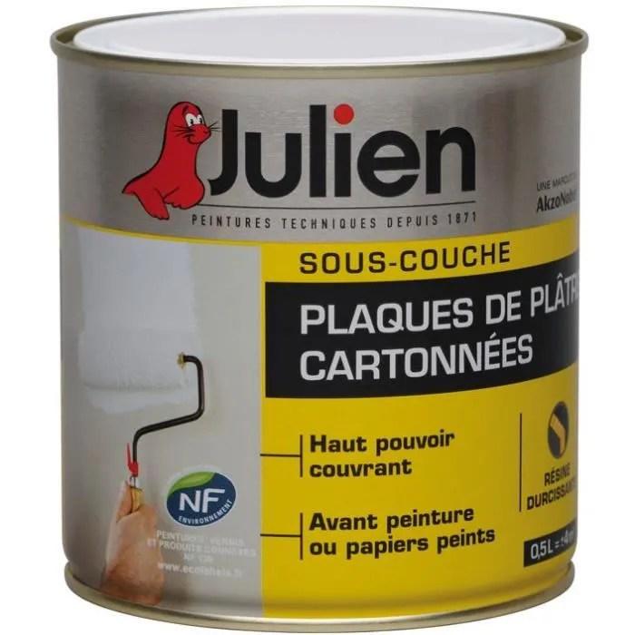 Sous-couche Julien Plaque plâtre cartonne J6 500ml - Achat / Vente - Peinture Julien Sous Couche
