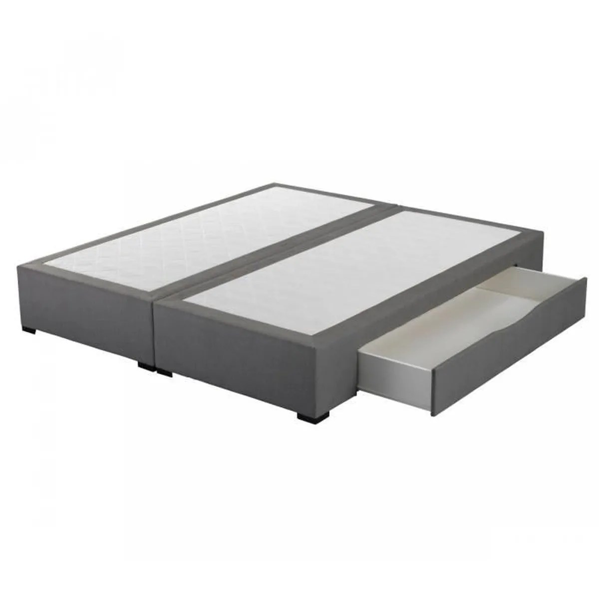 Lit Coffre 2x80x200 Sommier Tiroirs Astoria Gris Crown Bedding 2x80x200 Achat