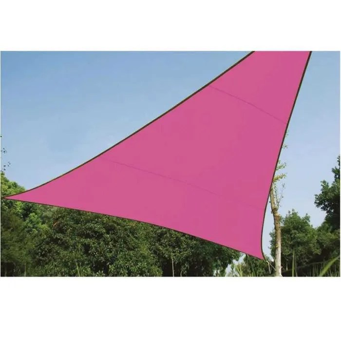 Toile Store Banne Discount Voile D'ombrage Triangle 5m Rose - Achat / Vente Voile D