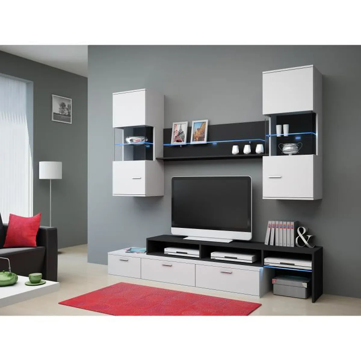 Cdiscount Ensemble Meuble Tv Ensemble De Meuble Tv Moderne And Design Domingo Achat