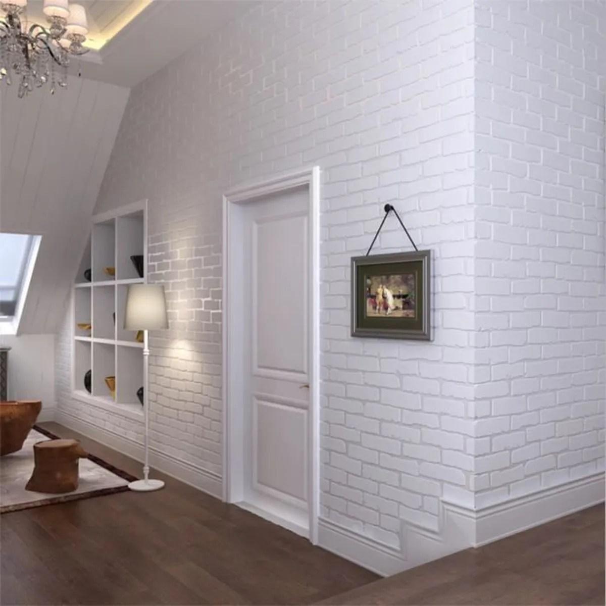 deco salon brique | deco peinture salon gris et rouge mur couleur