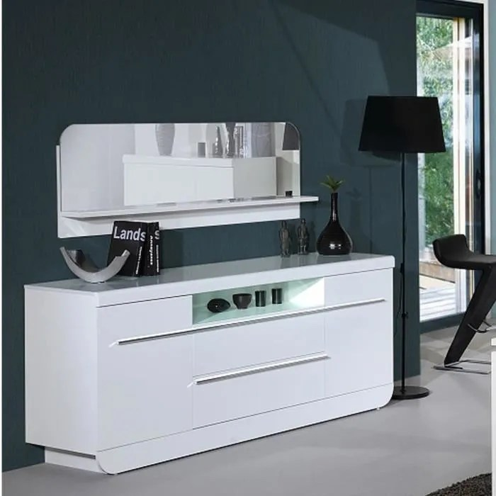 Bahut Blanc Conforama | Buffet 3 Portes Bel Air Coloris Blanc ...