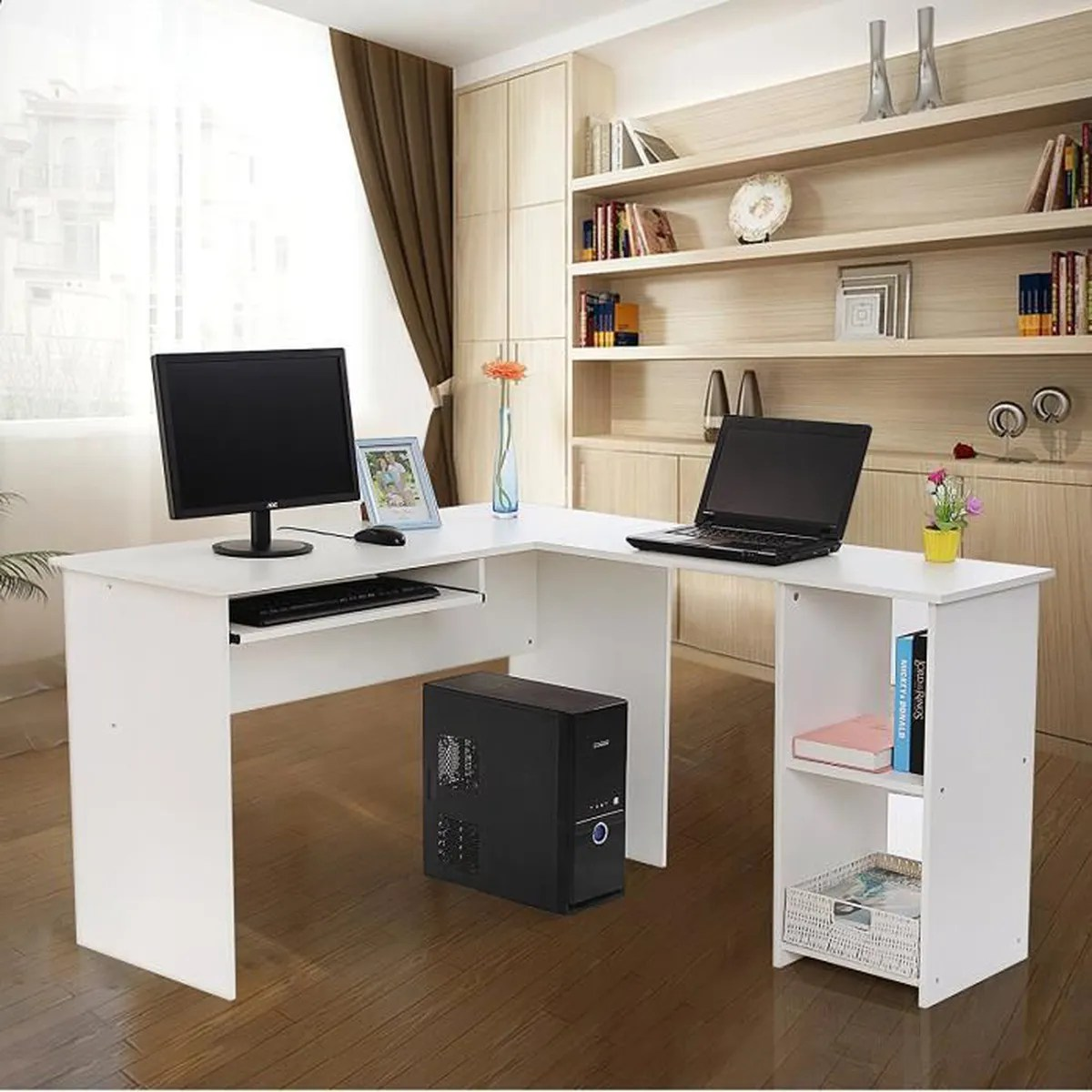 Tablette Bureau Superbe Bureau Informatique Blanc Avec Tablette Co