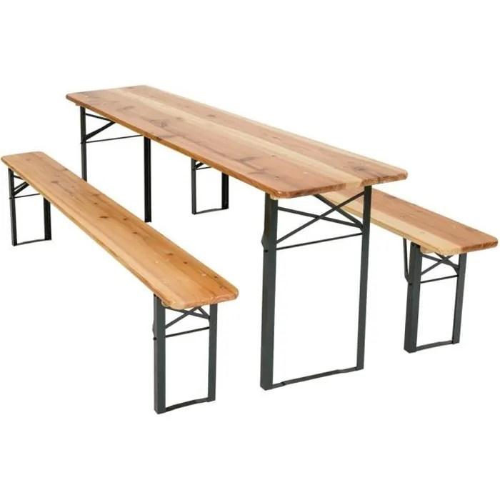 Table Et Banc Pliant Bois | Eco Meubles De Montagne Meuble Style ...