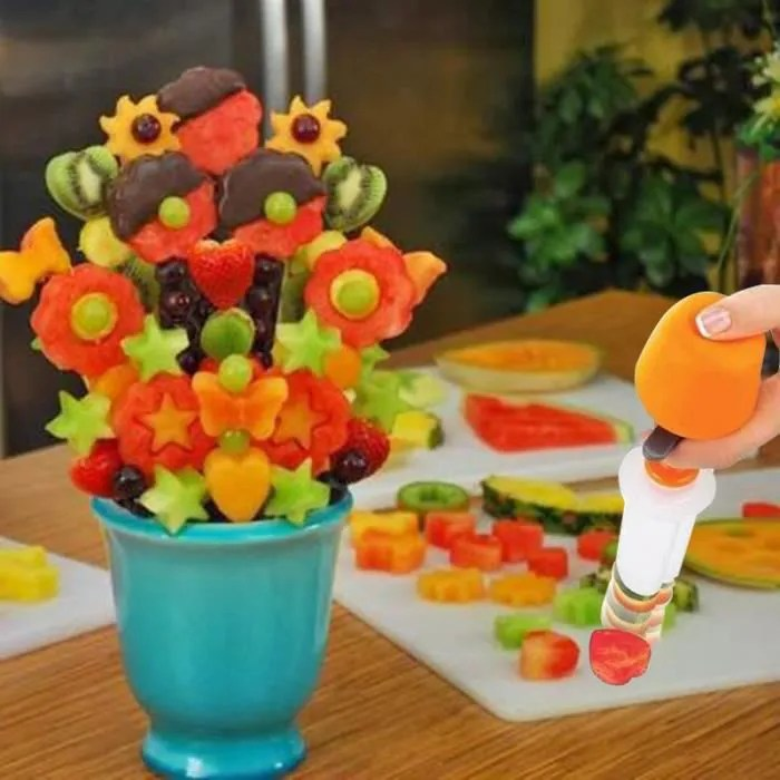 Decoration De Legume Et Fruit Découpe Forme Fruits & Légumes Décoration Tarte Salade Set
