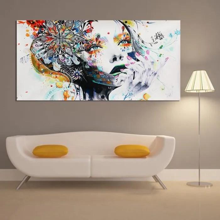 TEMPSA Peinture à Huile Tableau deToile Art Abstraite Girl-L Maison