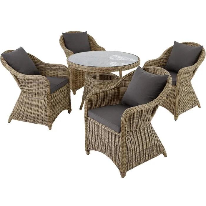 Salon De Jardin Resine Tressee 2 Fauteuils 1 Table