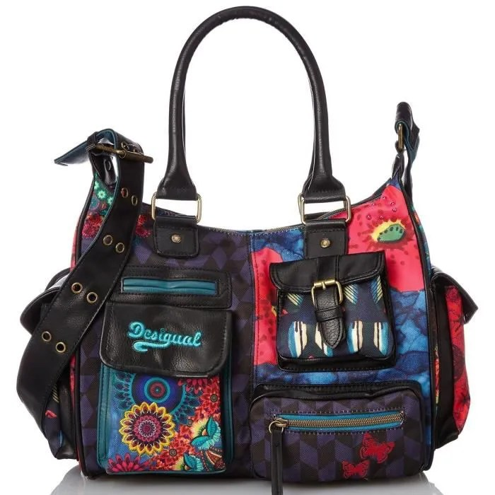 Sacs Desigual Desigual Sac London Medium Lakey 57x51n9 - Achat / Vente