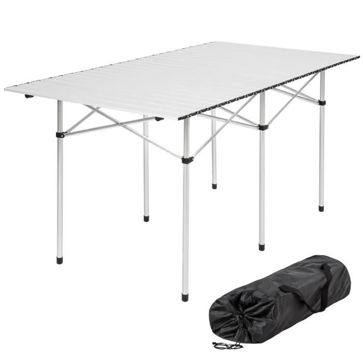 Table Valise + 4 Tabourets Tectake Table Pliante De Camping 4 à 6 Places 140 Cm X 70 Cm X 70 Cm