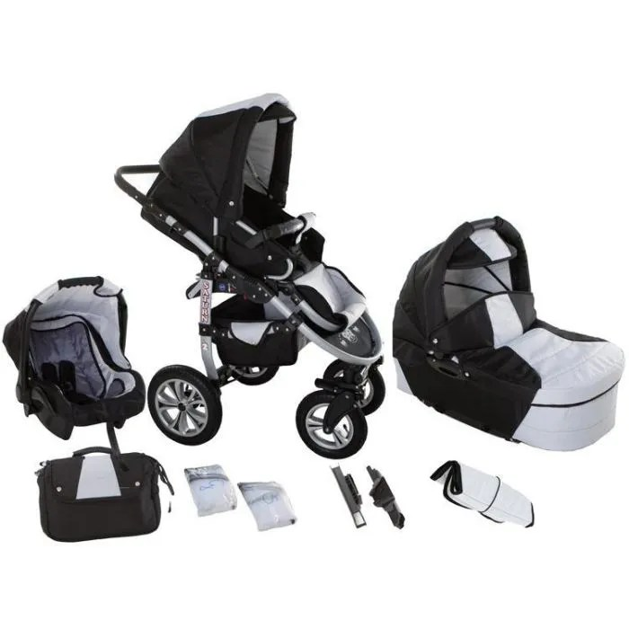 Poussette Trio Activ3 Chicco Poussette Black And White