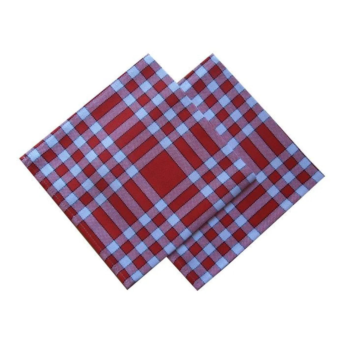 Serviette Table Lot De 2 Serviettes De Table Carreaux Normands Rouge