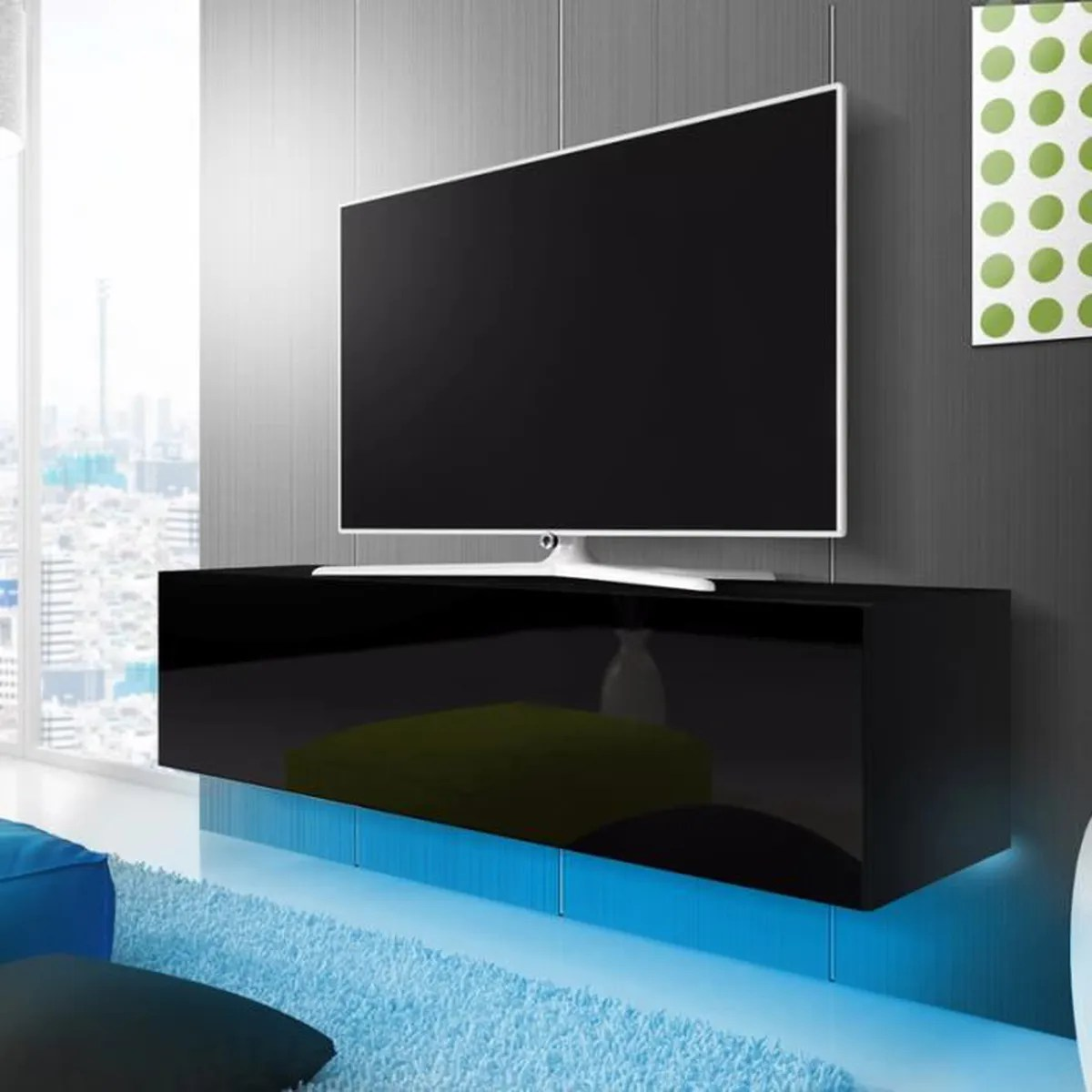 Home24 Meuble Tv Meuble Tv Noir Brillant Maison Design Wiblia